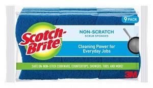 ihocon: Scotch-Brite Non-Scratch Scrub Sponge, 9 Scrub Sponges 清潔/洗碗海棉