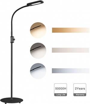 ihocon: AUKEY LED Floor Lamp, 3 Color Temperatures & 20 Dimmable Brightness Levels 3種色溫,光線微調落地燈