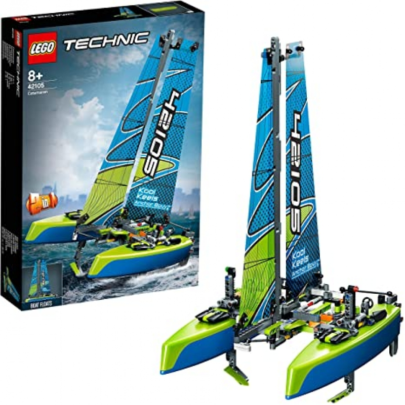 ihocon: LEGO Technic Catamaran 42105 Model Sailboat Building Kit, New 2020 (404 Pieces) 雙體帆船