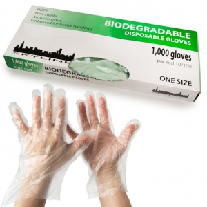 ihocon: 1000ct Biodegradable Disposable Plastic Gloves – Protects Skin 手扒雞手套