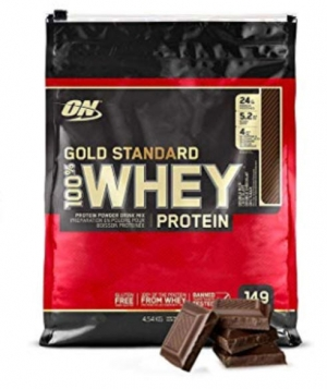 ihocon: Optimum Nutrition Gold Standard 10 Pounds 100% Whey Protein Powder (Double Rich Chocolate) 蛋白粉