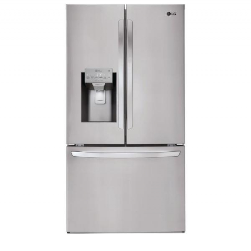 ihocon: LG Electronics 26.2 cu. ft. French Door Smart Refrigerator with Wi-Fi Enabled in Stainless Steel 法式門智能冰箱