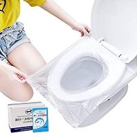 ihocon: Kalkehay 50 Pack Disposable Plastic Toilet Seat Cover Waterproof  一次性防水馬桶坐墊