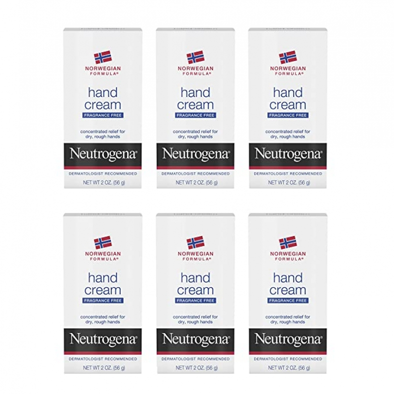 ihocon: Neutrogena Norwegian Formula Moisturizing Hand Cream Formulated with Glycerin for Dry, Rough Hands, 2 oz, Pack of 6 露得清護手霜