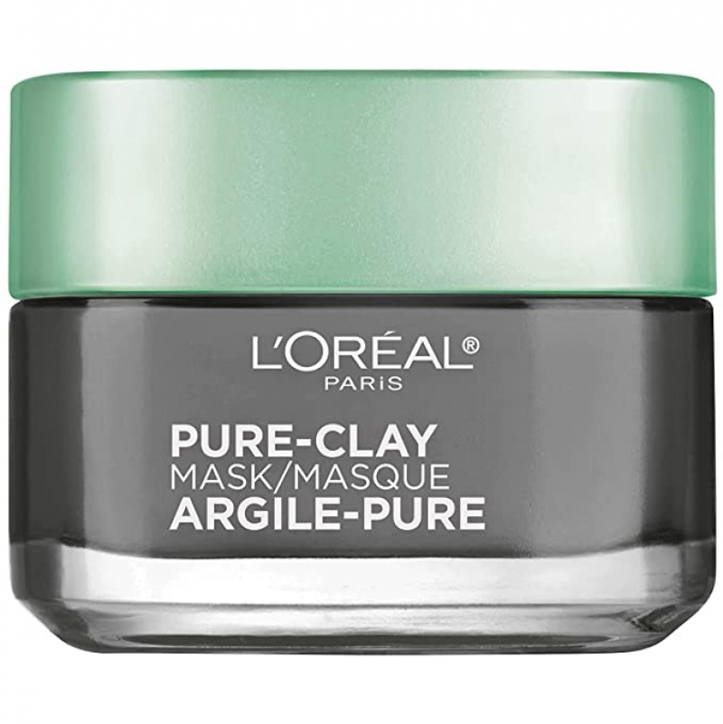 ihocon: L'Oreal Paris Skincare Pure Clay Face Mask with Charcoal, 1.7 oz. 木炭粘土面膜