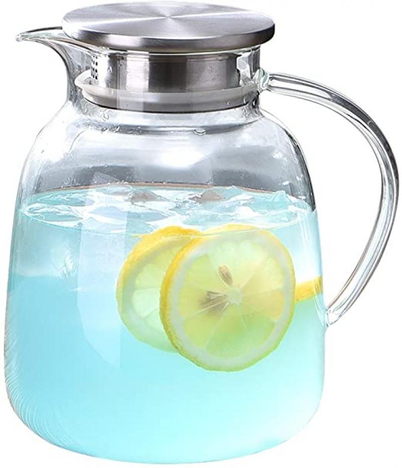 ihocon: WarmCrystal Large Glass Cold Teakettlev(64 oz) 玻璃冷茶壺