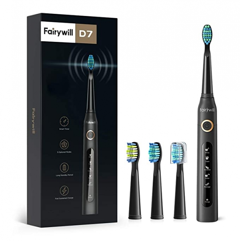 ihocon: Fairywill Electric Toothbrush Powerful Sonic Cleaning 電動牙刷