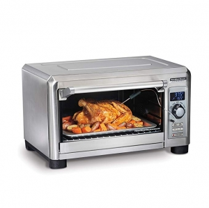 ihocon: Hamilton Beach Professional Countertop Toaster Oven, Digital, Convection, Large 6-Slice 不銹鋼小烤箱