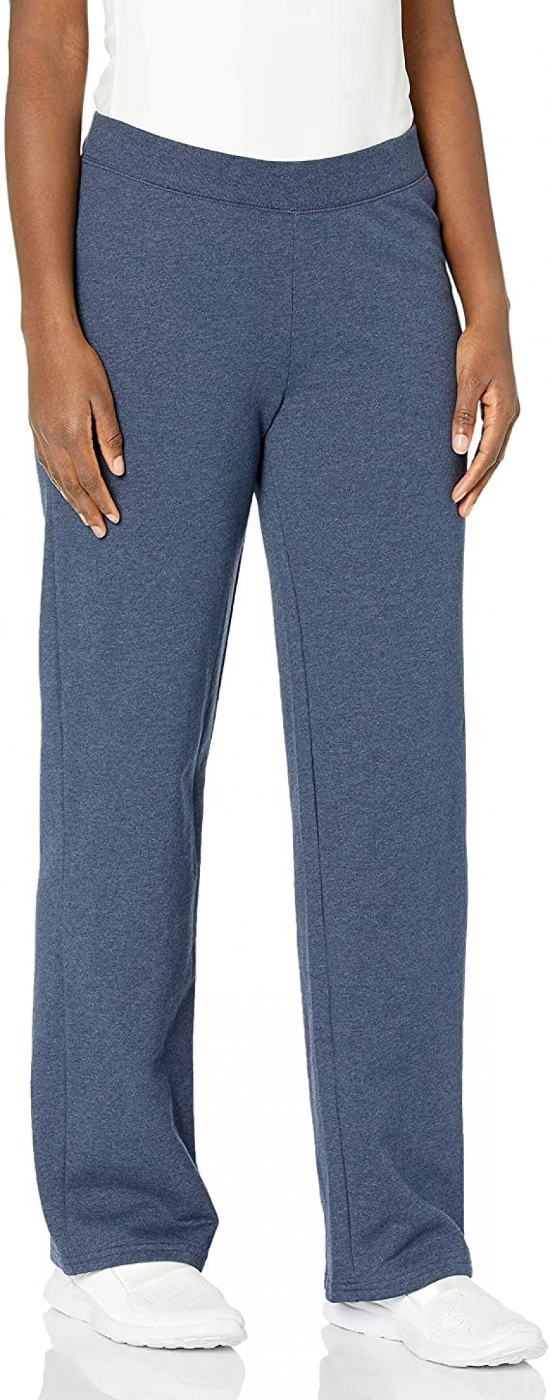ihocon: Hanes Women's EcoSmart Petite Open Bottom Leg Sweatpants 女士運動褲