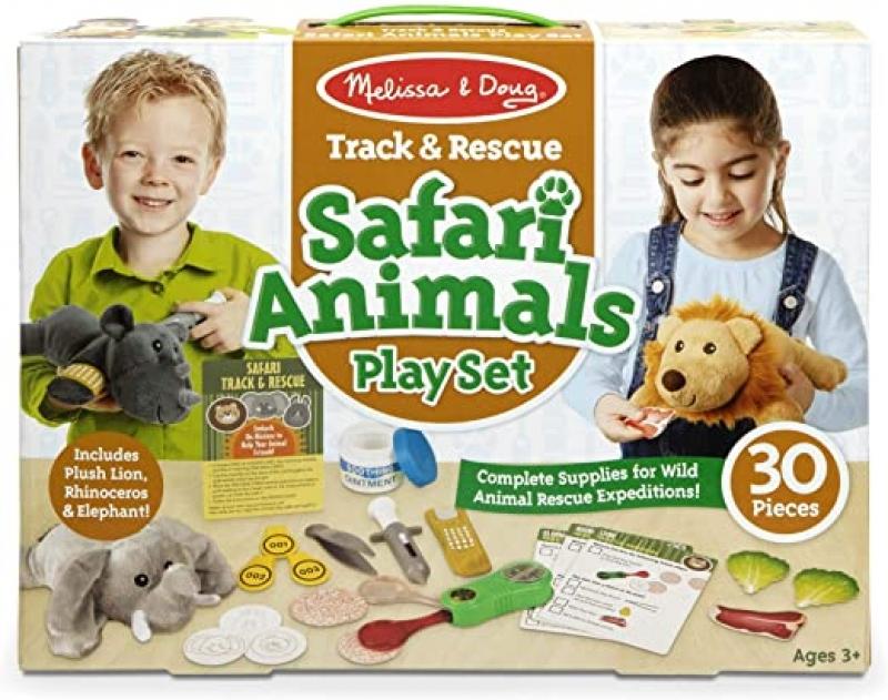 ihocon: Melissa & Doug Track & Rescue Safari Animals Play Set
