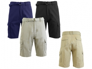 ihocon: Men's Belted Heavy Twill Cargo Shorts 男士短褲,含腰帶 - 多色可選