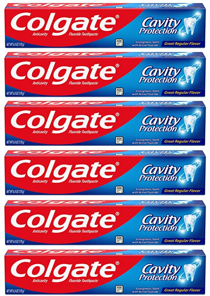 ihocon: Colgate Cavity Protection Toothpaste with Fluoride - 6 Ounce (Pack of 6) 高露潔含氟防蛀齒牙膏