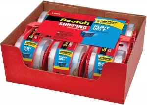 ihocon: Scotch Heavy Duty Shipping Packaging Tape,  6 Rolls with Dispenser 打包膠帶含膠台