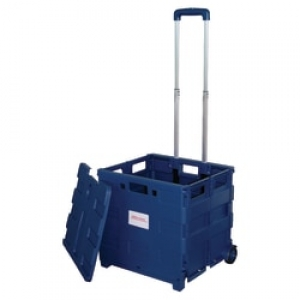 ihocon: Office Depot® Mobile Folding Cart With Lid, 16H x 18W x 15D 含蓋折疊拉車