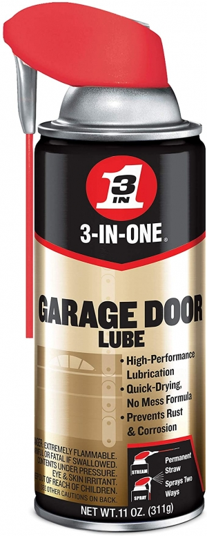 ihocon: 3-IN-ONE Professional Garage Door Lubricant with Smart Straw Sprays 2 Ways, 11 OZ 車庫門潤滑油