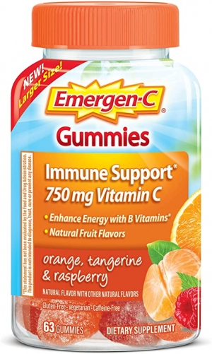 ihocon: Emergen-C 750mg Vitamin C Gummies for Adults, Immune Support Gummies with B Vitamins, 63 Count