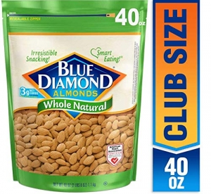 ihocon: Blue Diamond Almonds, Raw Whole Natural, 40 Ounce 杏仁