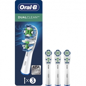 ihocon: Oral-B Dual Clean Replacement Electric Toothbrush Replacement Brush Heads, 3ct 電動牙刷替換刷頭