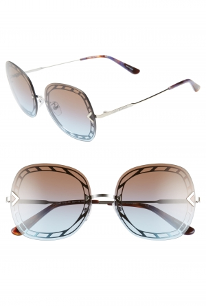 ihocon: TORY BURCH 58mm Gradient Square Sunglasses 太陽眼鏡