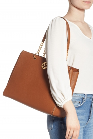 ihocon: TORY BURCH Everly Leather Tote 包包
