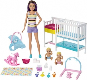 ihocon: Barbie Skipper Babysitters Inc Nap 'n' Nurture Nursery Dolls and Playset 芭比娃娃
