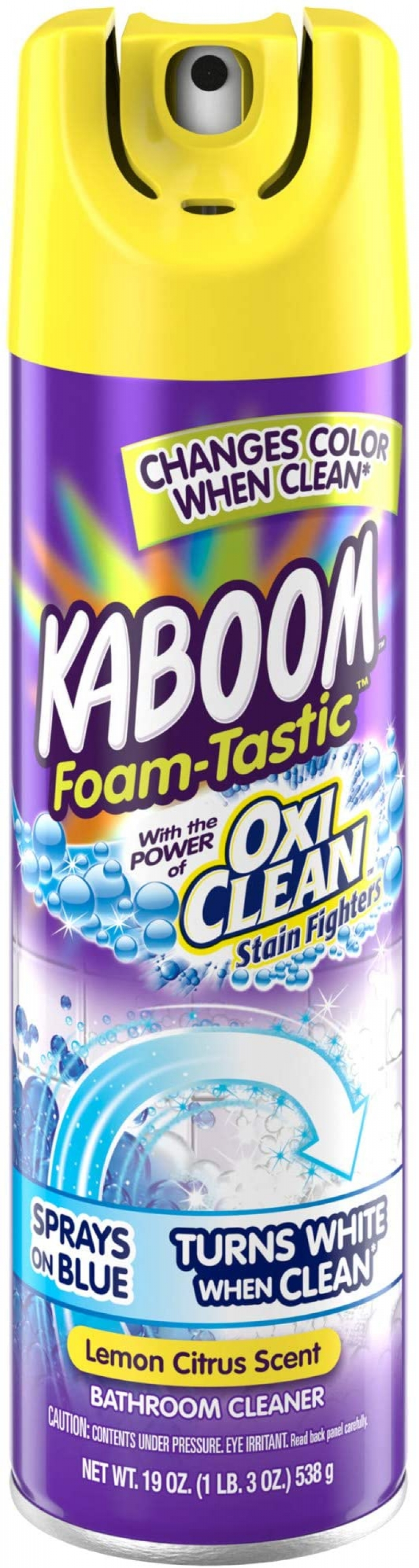 ihocon: Kaboom Foam Tastic Bathroom Cleaner with OxiClean, Citrus 19oz 泡沫式浴室清潔劑