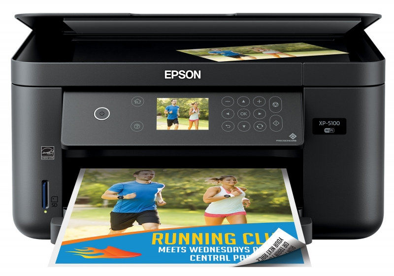 ihocon: Epson Expression Home XP-5100 Wireless All-in-One Color Inkjet Printer 無線彩色噴墨多功能印表機(Print/Copy/Scan)