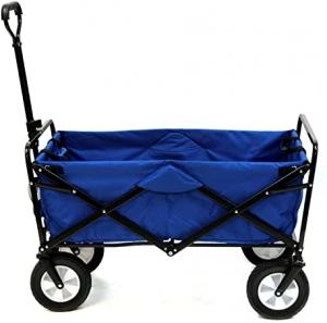 ihocon: Meda Collapsible Folding Outdoor Utility Wagon Cart (Blue) 折疊式拖車