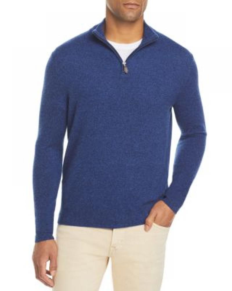 ihocon: The Men's Store at Bloomingdale's Cashmere Half-Zip Sweater - 100% Exclusive 男士羊絨毛衣-多色可選