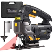 ihocon: TECCPO Professional Jig Saw with Laser Guide, 6pcs Blades, Carrying Case 電鋸