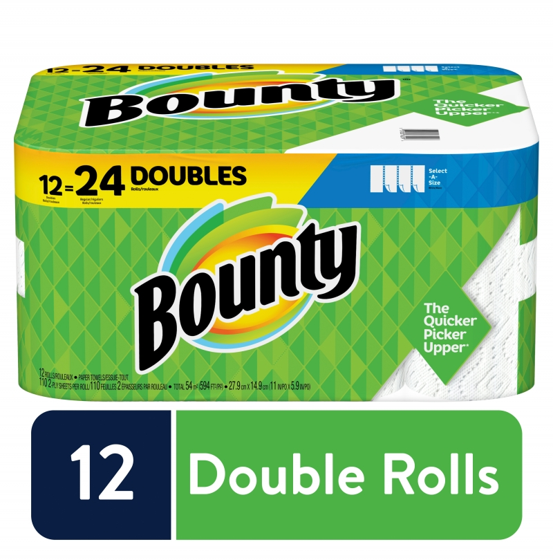 ihocon: Bounty Bounty Select-A-Size Paper Towels, White, 12 Double Rolls 廚房紙巾