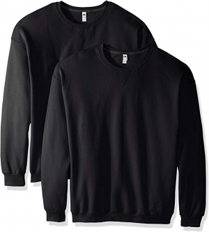 ihocon: Fruit of the Loom Men's 男士長袖Crew Sweatshirt (2 Pack)