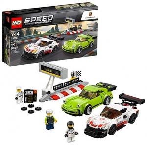 ihocon: LEGO Speed Champions Porsche 911 RSR and 911 Turbo 3.0 75888 Building Kit (391 Piece)