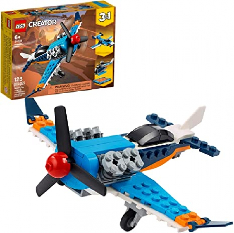 ihocon: [2020新款] LEGO Creator 3in1 Propeller Plane 31099 Flying Toy Building Kit, New 2020 (128 Pieces)