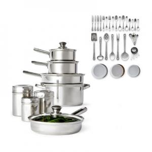 ihocon: Cooks 52-PC. Stainless Steel Cookware Set不銹鋼鍋組