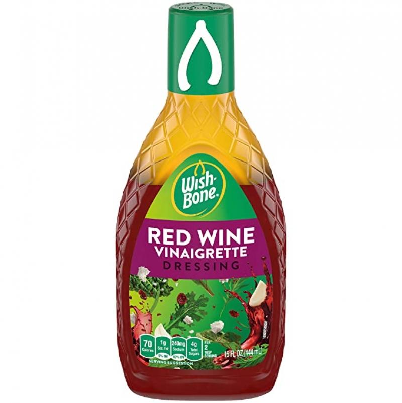 ihocon: Wish-Bone Red Wine Vinaigrette Dressing, 15 FL OZ 紅酒醋沙拉醬