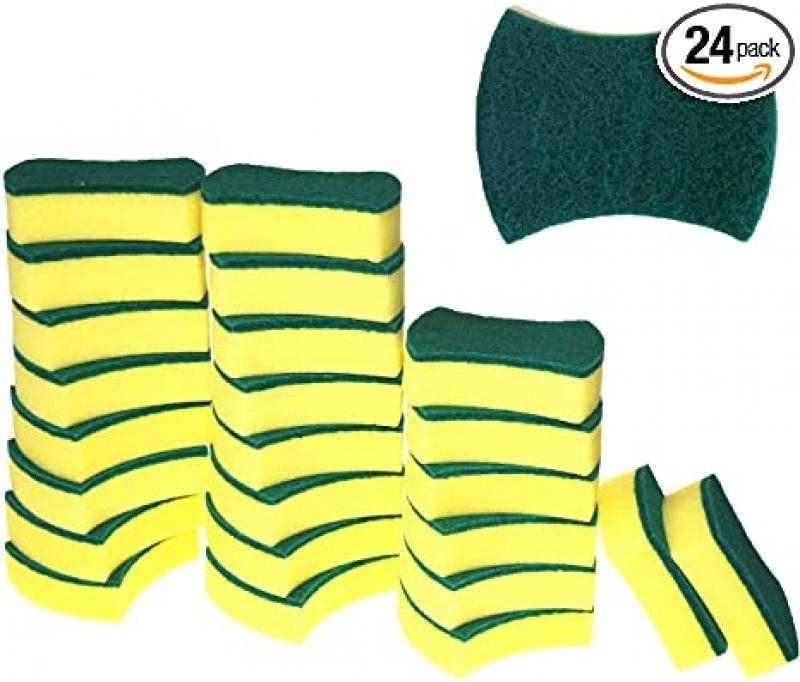 ihocon: Treenewbid Kitchen Cleaning Sponges(Pack of 24) 清潔海綿
