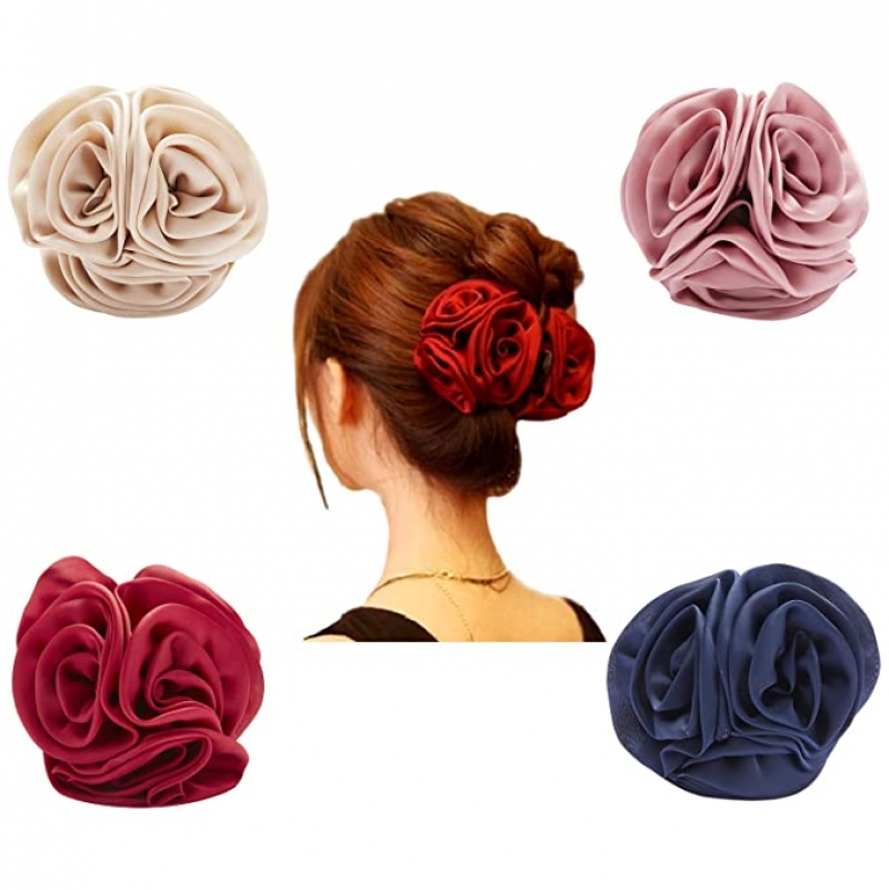ihocon: Angla 4 Pack Rose Flower Hair Claw Clips 玫瑰髮夾