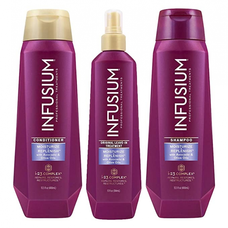 ihocon: INFUSIUM, Shampoo + Conditioner + Leave in Treatment, 13.5 oz 洗髮精+護髮乳+免洗護髮素