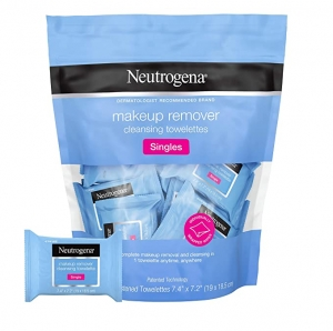 ihocon: Neutrogena Makeup Remover Cleansing Towelette Singles, 20 ct 露得清單片包裝卸妝巾