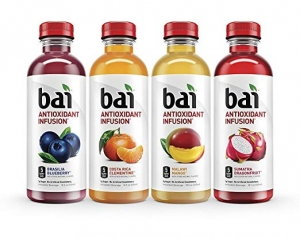 ihocon: Bai Flavored Water, Rainforest Variety Pack, Antioxidant Infused Drinks, 18 Fluid Oz, 12 count