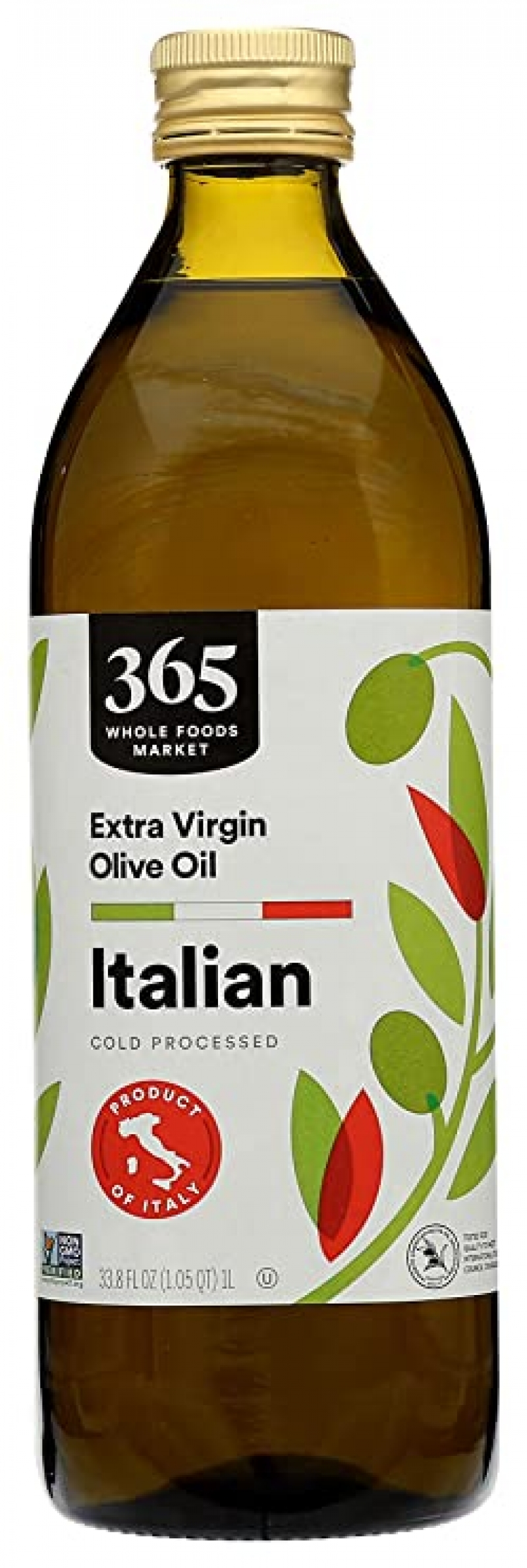 ihocon: 365 by Whole Foods Market, Cold Processed Extra Virgin Olive Oil, Italian, 33.8 Fl Oz 365  冷壓特級初榨橄欖油