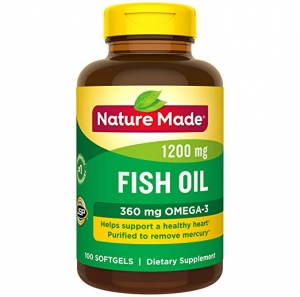 ihocon: Nature Made Fish Oil 1200 mg w. Omega-3 360 mg Softgels 100 Count魚油