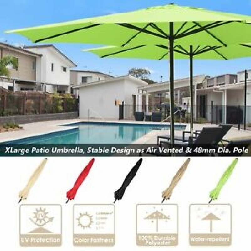 ihocon: Apluschoice 13' FT Sun Shade Patio Aluminum Umbrella UV30+ 遮陽大傘