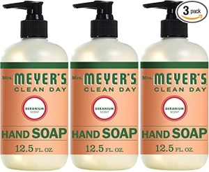 ihocon: Mrs. Meyer's Clean Day Liquid Hand Soap, Geranium Scent, 12.5 Fl Oz, Pack of 3 洗手液皂