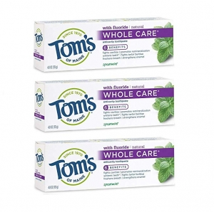 ihocon: Tom's of Maine Whole Care Toothpaste 4.0 Ounce, 3-Pack 牙膏