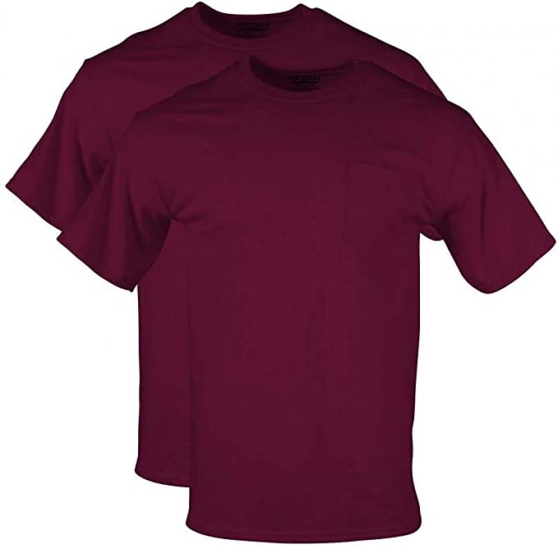 ihocon: Gildan Men's DryBlend Workwear T-Shirts with Pocket, 2-Pack 男士口袋短袖衫