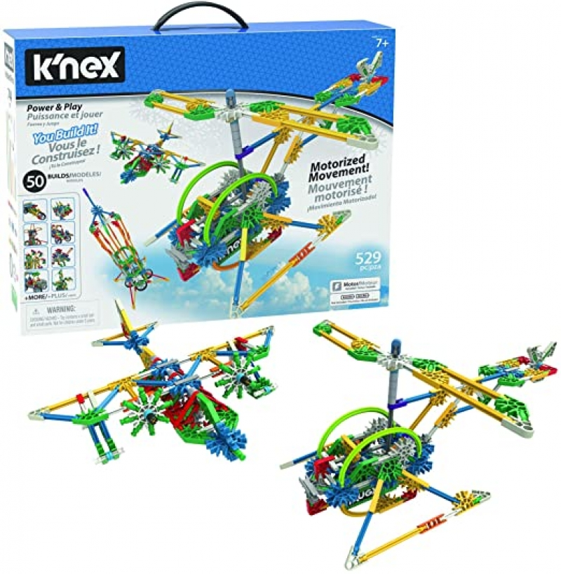 ihocon: K'NEX Imagine - Power and Play Motorized Building Set 兒童益智拼接飛行器