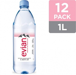 ihocon: Evian Natural Spring Water 12-pack 1 Liter天然礦泉水