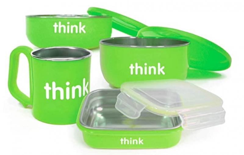 ihocon: Thinkbaby Complete BPA Free Feeding Set 幼兒不銹鋼餐盒及杯子